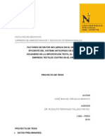 Proyecto de Tesis - sistema Anticipado de despacho aduanero