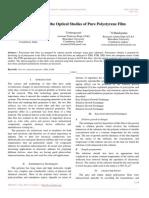 XRD FTIR and the Optical Studies of Pure Polystyrene Film