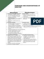 Advantages and Disadvantages of Migration