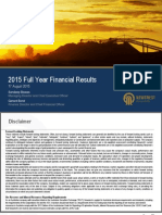 2014-15 Full Year Financial Results Presentation Final