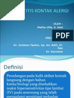 Dermatitis Kontak Alergi Presentasi