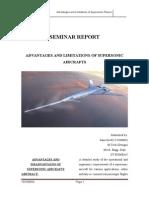 Supersonic Planes