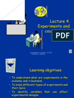 Lecture 4. Experiments and Causal Design