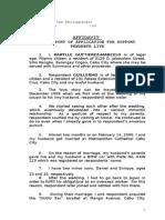Affidavit for Nullity of Marriage