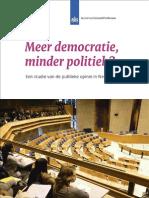 Meer democratie, minder politiek?