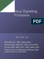 Call Setup Signalling Procedure