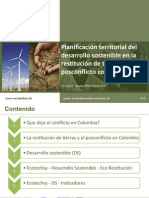 Planificación territorial del Desarrollo Sostenible en la restitución de tierras en el post conflicto colombiano