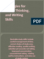 Strategies for Study, Thinking, And Writing Skills