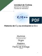 Historia C y C++ y operadores