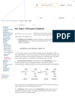 Six Types of Enzyme Catalysts