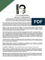 """C'è la passione dei giovani """"conPasolini"""", Roma 2 ottobre 2015"""