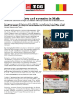 Improving safety and security in Mali
