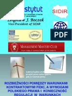 1. Zbigniew Boczek - Rozbieznosci Pomiedzy FIDIC a Wymogami Pzp ...