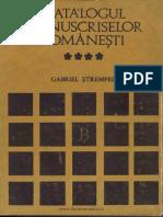 Catalogul Manuscriselor Româneşti. Volumul 4