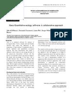 Qeco-Quantitative Ecology Software a Collaborative Approach
