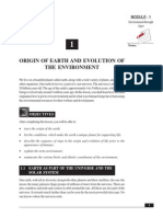 Origin of Earth and Evolution of the Environment