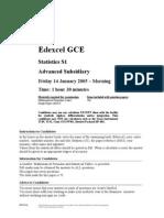 Math Jan 2005 Exam S1
