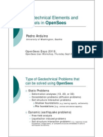 Geotechnical Elements and Models in OpenSees
