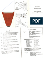 Instrucciones de Operación Elcometer 345