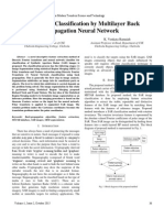 SAR Image Classification by Multilayer Back Propagation Neural Network