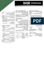 Ficha técnica de motoniveladora Case 845