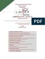 LAMPEA-Doc 2015 – numéro 27 / Vendredi 2 octobre 2015