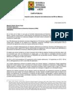 151002 CARTA CIDH_Situación de defensoras de DH en México