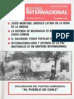 Revista Inernacional-Nuestra Épca-Edición Chilena Noviembre de 1985