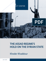 The Assad Regime's Hold on the Syrian State