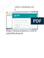 Introducción a Arduino en Windows