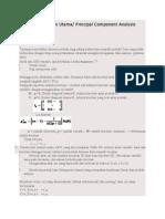 Analisis Komponen Utama Dg R
