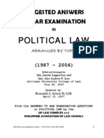 Answers to Phil Bar Exams 1987-2006 Political Law
