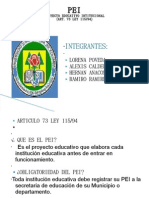 Proyecto Educativo Intitucional ( Art . 73