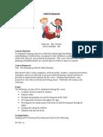 child development syllabus