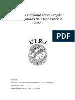 Trabalho Opcional Sobre Projeto de Trocadores de Calor Casco e Tubo