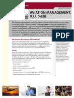 Florida Tech Aviation Management2 Online Fact Sheet