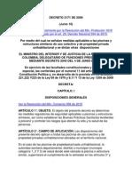 Decreto 2171 de 2009