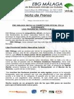42.- Arranca La Competición Oficial en La Ilusionante Categoría Sénior Sub-22