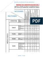 Matrices de Estudio de Impacto Ambiental