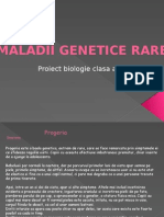 Maladii genetice rare