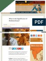 Www_ishafoundation Significance of Brahmacharya