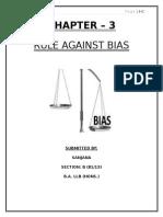 Rule Against BIAS