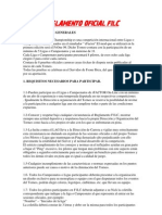 REGLAMENTO OFICIAL F1LC