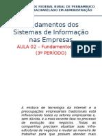 AULA Fundamentos Dos Sistemas de Informação