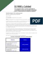 Normas ISO 9000 y Calidad