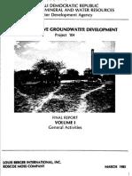Somalia 1985 Groundwater Management Report