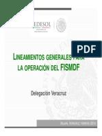Lineamientos para la Operacion del FISMDF