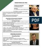 Funciones de lo Ministros - Peru - 2015