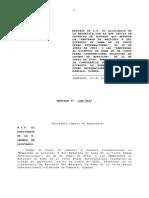 Mensaje enmiendas Corte Penal Internacional