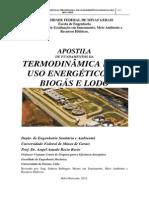 Apostila de Termodiâmica para uso energético del biogás y el lodo